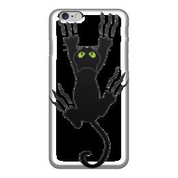 """Чехол для iPhone 6 """"Чёрная пантера """" - большая кошечка"""