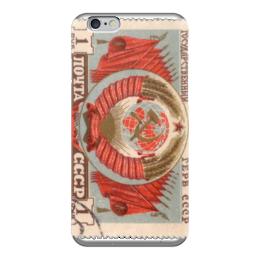 "Чехол для iPhone 6 ""марка СССР"" - ссср, ретро, марка"