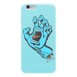 """Чехол для iPhone 6 глянцевый """"Santa Cruz"""" - santa, cruz, рука со ртом"""