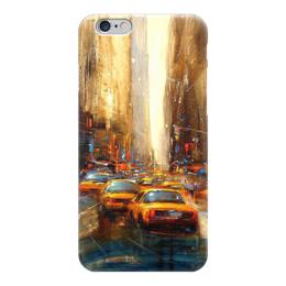 """Чехол для iPhone 6 """"Мегаполис"""" - город, улица, машина, абстракция, такси"""