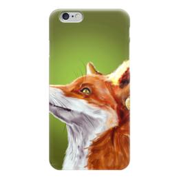 """Чехол для iPhone 6 """"Осенний лис."""" - рисунок, осень, снег, лис, fox"""
