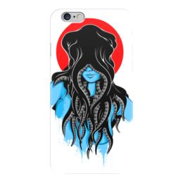 """Чехол для iPhone 6 """"Octopushead Girl"""" - девушка, осьминог"""
