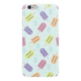 "Чехол для iPhone 6 ""Ice-cream"" - лето, еда, паттерн, холод, мороженое"