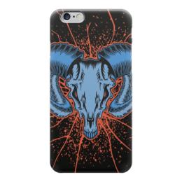 "Чехол для iPhone 6 ""Goat skull"" - skull, череп, козел, goat"
