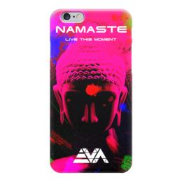 "Чехол для iPhone 6 ""Арт Будда"" - розовый, buddha, будда, намасте"
