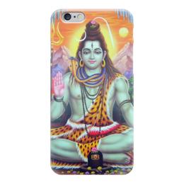 """Чехол для iPhone 6 глянцевый """"Yoga & Music"""" - йога, философия, божество, образ жизни, yoga"""