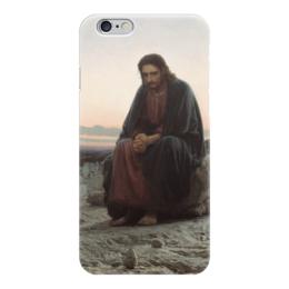 """Чехол для iPhone 6 """"Христос в пустыне (картина Крамского)"""" - картина, крамской"""