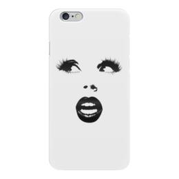 "Чехол для iPhone 6 ""Милое личико"" - глаза, нос, губки, личико"