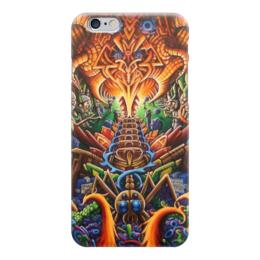 """Чехол для iPhone 6 """"Абстракция"""" - мир, грибы, галлюцинации"""