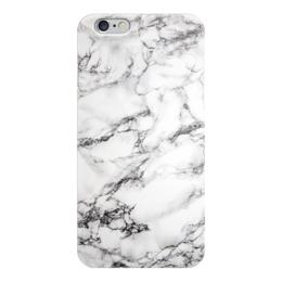"""Чехол для iPhone 6 глянцевый """"Белый мрамор"""" - белый, серый, черный"""