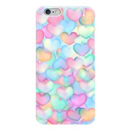 "Чехол для iPhone 6 ""Сердечки "" - любовь, 3d"
