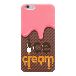 """Чехол для iPhone 6 """"Мороженное"""" - арт, еда, ice cream, мороженное, вафли"""