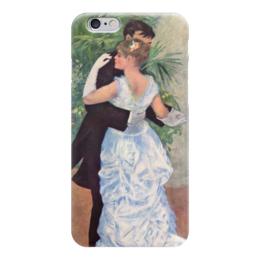 """Чехол для iPhone 6 глянцевый """"Танец в городе (Пьер Огюст Ренуар)"""" - картина, ренуар"""