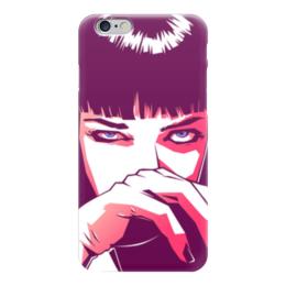 "Чехол для iPhone 6 ""Мия Уоллес (Ума Турман)"" - ума турман, тарантино, криминальное чтиво, мия уоллес, pulp fictions"