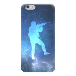 """Чехол для iPhone 6 """"Солдат (Контра)"""" - война, космос, cs go, кс го"""
