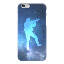 "Чехол для iPhone 6 глянцевый ""Солдат (Контра)"" - космос, война, cs go, кс го"