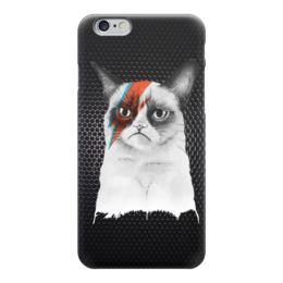 """Чехол для iPhone 6 """"Грустный Кот (Grumpy Cat)"""" - пародия, грустный кот, grumpy cat, тард, bowie"""
