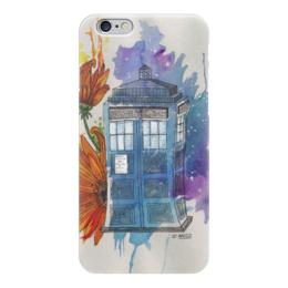 "Чехол для iPhone 6 ""Тардис"" - doctor who, подсолнухи, доктор кто, тардис, синяя будка"