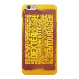 """Чехол для iPhone 6 глянцевый """"Все сериалы"""" - декстер, во все тяжкие, теория большого взрыва, ходячие мертвецы, обмани меня"""