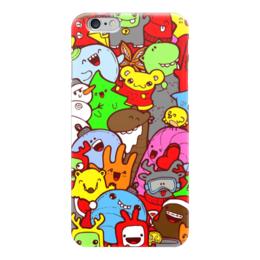 """Чехол для iPhone 6 """"Яркий дудлопринт"""" - животные, звери, паттерн, дудлы"""