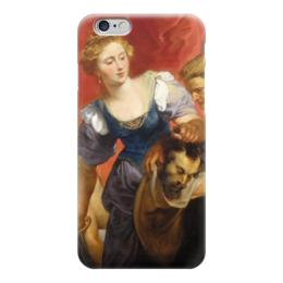 """Чехол для iPhone 6 глянцевый """"Юдифь с головой Олоферна"""" - картина, рубенс"""