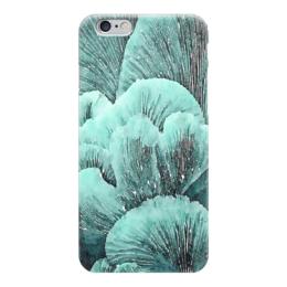 """Чехол для iPhone 6 """"Грибы"""" - салатовый, черный, голубой, мятный"""