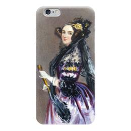 """Чехол для iPhone 6 """"Акварельный портрет Ады Лавлейс"""" - картина, шалон"""