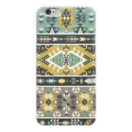 "Чехол для iPhone 6 ""Seamless bright pattern in tribal style"" - indian, tribal, native, aztec, navajo"