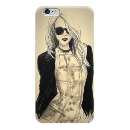 "Чехол для iPhone 6 ""девушка"" - девушка, girl, рисунок, мадам"