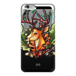 """Чехол для iPhone 6 глянцевый """"Рябина 6"""" - осень, олень, ключ, tm kiseleva, лесной страж, рябина, дуб, deer"""