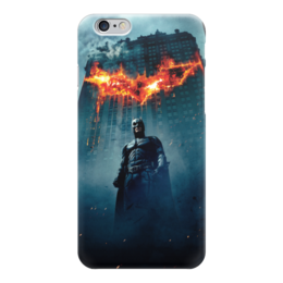 "Чехол для iPhone 6 глянцевый ""Бэтмен (Batman)"" - the dark knight rises, the dark knight, batman begins, batman, бэтмен"