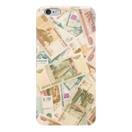 """Чехол для iPhone 6 """"Рубли"""" - деньги, россия, рубли"""