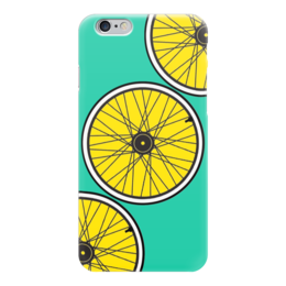 "Чехол для iPhone 6 ""Bike Wheel Case"" - дизайн, зеленый, yellow, велосипед, bike wheels"
