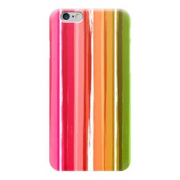 """Чехол для iPhone 6 """"Радуга"""" - узор, радуга, рисунок, полосатый, красочный"""