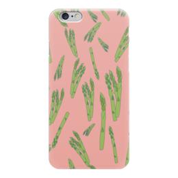 """Чехол для iPhone 6 """"Веган"""" - фрукты, овощи, женственный, аспарагус, веганский"""