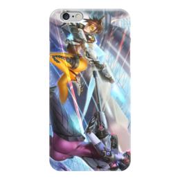 "Чехол для iPhone 6 ""Overwatch Tracer VS Widowmaker"" - overwatch, tracer, роковая вдова, трэйсер"