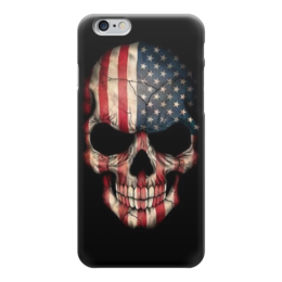 "Чехол для iPhone 6 ""Skull Art"" - skull, череп, америка, американский флаг, арт дизайн"