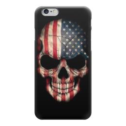 "Чехол для iPhone 6 глянцевый ""Skull Art"" - skull, череп, американский флаг, америка, арт дизайн"