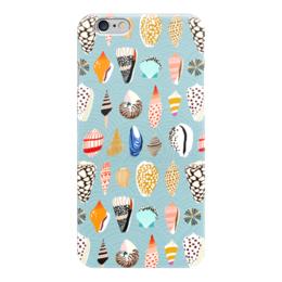 """Чехол для iPhone 6 """"Морские"""" - лето, море, голубой, пляж, ракушки"""