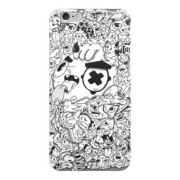 """Чехол для iPhone 6 """"Смешные монстры"""" - черно-белое, монстры, смешные монстры"""