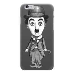 "Чехол для iPhone 6 глянцевый ""Charlie Chaplin"" - charlie chaplin, чарли чаплин, актёр, комик, кино"
