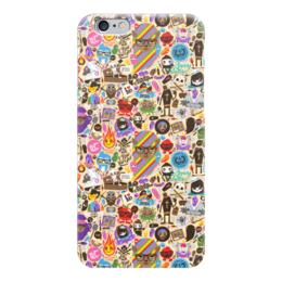 """Чехол для iPhone 6 """"Боюсь, Что Вы Девушка"""" - sticker bombing, стикер-арт"""