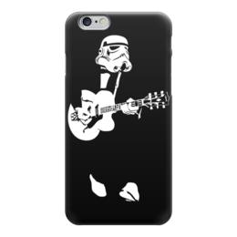 """Чехол для iPhone 6 """"Штурмовик с Гитарой (Звездные Войны)"""" - гитара, star wars, stormtrooper, штурмовик, бард"""