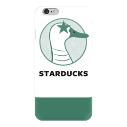 "Чехол для iPhone 6 ""Starducks Starbucks Case "" - duck, coffee, starbucks, parody, star ducks"