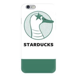 "Чехол для iPhone 6 ""Starducks Starbucks Case "" - duck, coffee, starbucks, parody, star ducks"