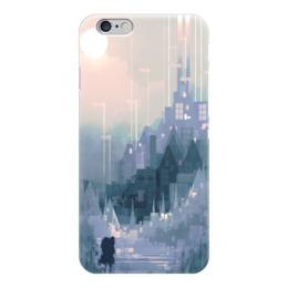 """Чехол для iPhone 6 """"Загадочный город"""" - арт, рисунок, город, закат"""