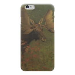"Чехол для iPhone 6 ""Лось (Study of a moose)"" - картина, бирштадт"