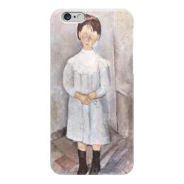 """Чехол для iPhone 6 """"Девочка в голубом платье"""" - картина, модильяни"""