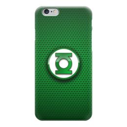 "Чехол для iPhone 6 глянцевый ""Зеленый Фонарь (Green Lantern)"" - the big bang theory, теория большого взрыва, шелдон купер, зеленый фонарь"