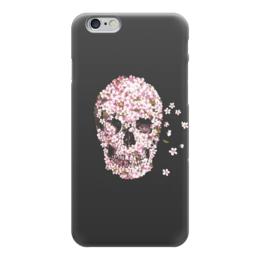 """Чехол для iPhone 6 """"Милый череп"""" - череп, цветы, розовый, милый череп"""